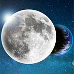 地球の手前を横切る月の写真が面白い!月の裏側がはっきり見える