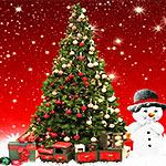 サントリーホール前のクリスマスツリーが綺麗!聖晶石でできた魔神柱みたい