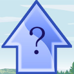 「?」に入る言葉は何?点とシルエットを複数の線で結んだ謎解き問題