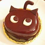 指揮者ネコのケーキを買って帰ったら腹立つ顔のケモノと化していたw